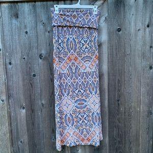 Cynthia Rowley Mosaic Patterned Maxi Skirt Size S
